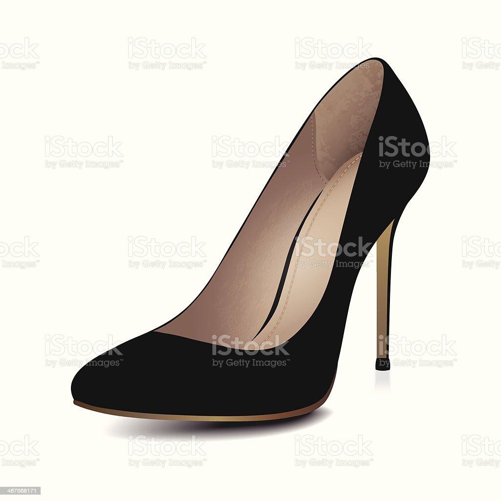 High Heels Black Shoe royalty-free stock vector art