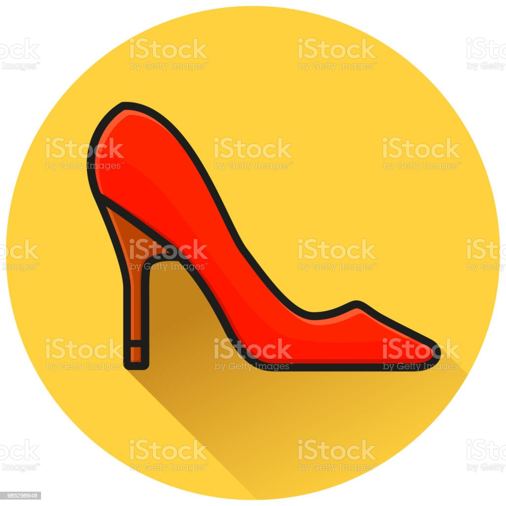 high heels circle flat icon royalty-free high heels circle flat icon stock vector art & more images of beauty