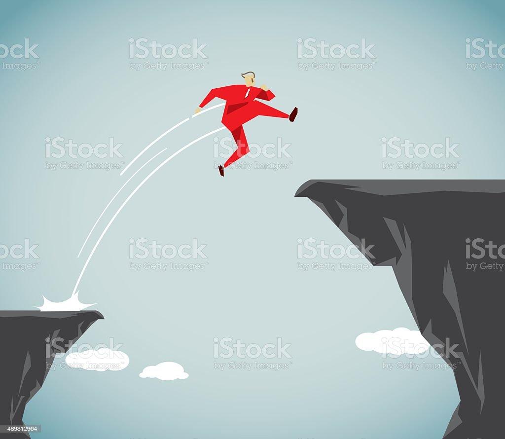 High Jump vector art illustration