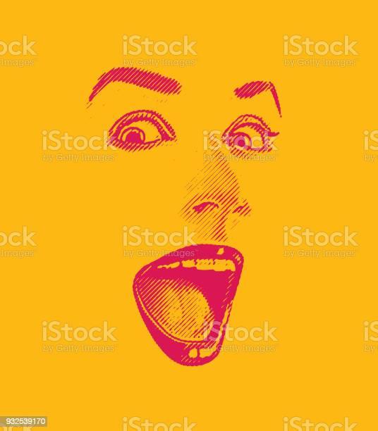 High key engraving of womans eyes and lips with happy surprised vector id932539170?b=1&k=6&m=932539170&s=612x612&h=epjkg4kvbx0pvsb8n7ndoqfvdl3vabzh4gef2pd6ywe=