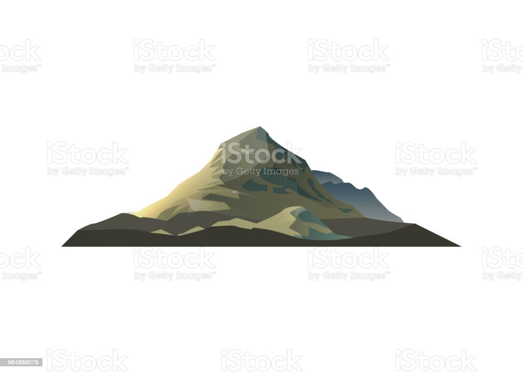 High mountain isolated vector icon royalty-free high mountain isolated vector icon stock vector art & more images of adventure
