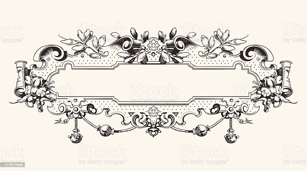 High Ornate Vintage Horizontal Banner royalty-free high ornate vintage horizontal banner stock vector art & more images of abstract