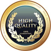 High quality golden award with a laurel.