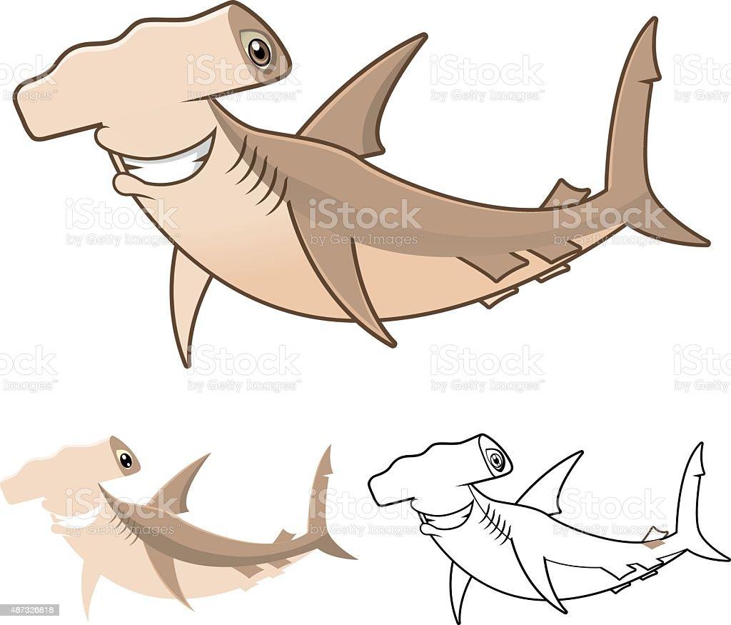 royalty free great hammerhead shark clip art vector images rh istockphoto com hammerhead shark clipart great hammerhead shark clipart