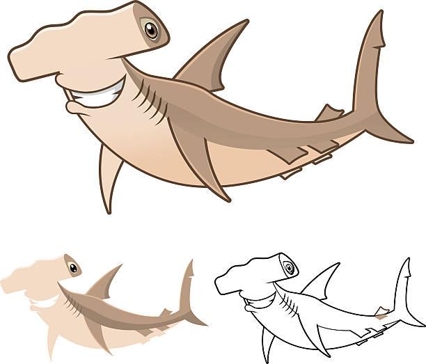 Requin marteau vecteurs et illustrations libres de droits - Dessin de marteau ...