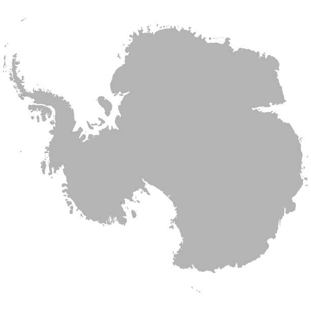 ilustraciones, imágenes clip art, dibujos animados e iconos de stock de mapa de alta calidad - mapa de antártida