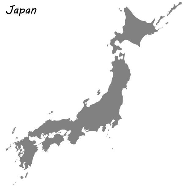 高品質の地図 - 日本 地図点のイラスト素材/クリップアート素材/マンガ素材/アイコン素材
