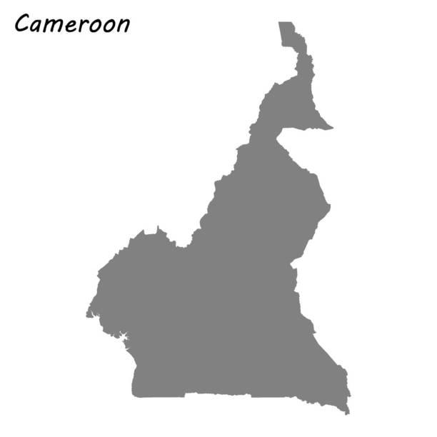 hochwertige karte - kamerun stock-grafiken, -clipart, -cartoons und -symbole