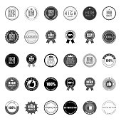 Set of high quality premium guarantee logo vector collection.