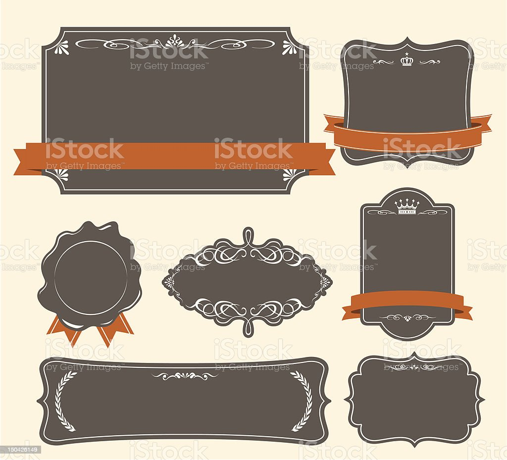 High quality & Premium labels set royalty-free stock vector art