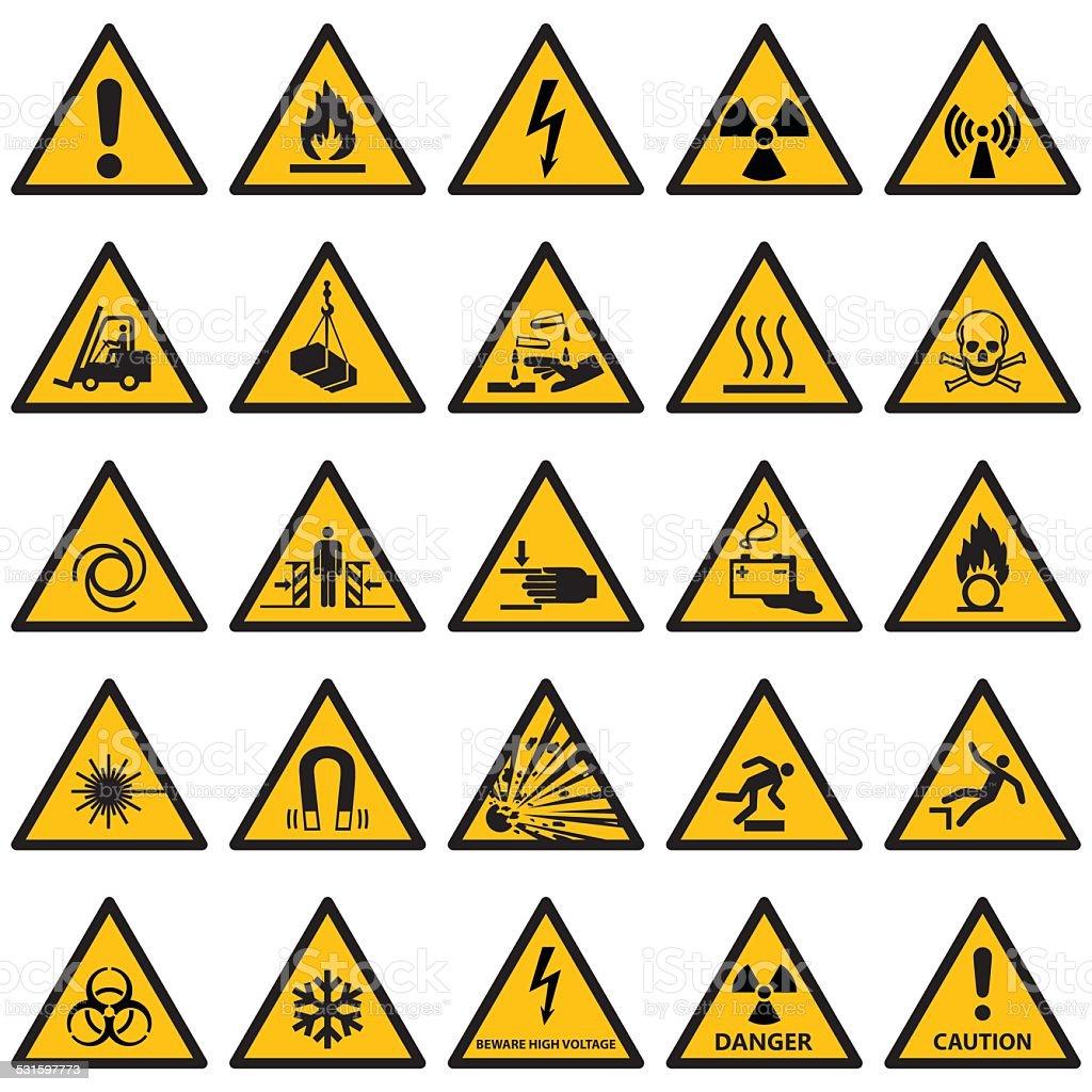 Hochwertige Standard-Warnschild Kollektion – Vektorgrafik