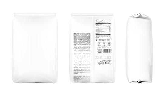High realistic clean vertical bag mockup.