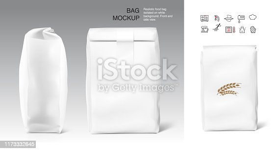 Front, side view. Vector illustration isolated on white background. Easy to use for presentation your product, idea, promo, design. EPS10.