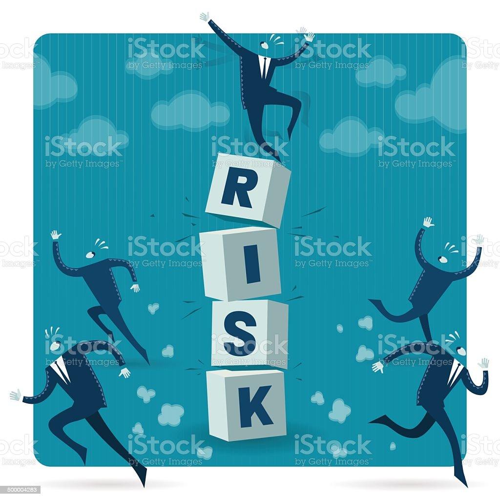 High Risk vector art illustration