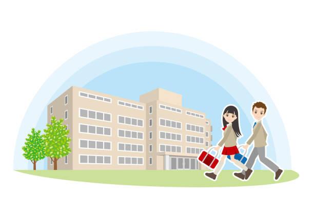 高校の友人の図 - 高等学校点のイラスト素材/クリップアート素材/マンガ素材/アイコン素材