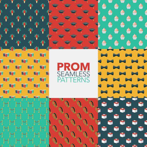High School Prom Muster – Vektorgrafik