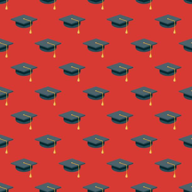 High School Prom nahtlose Muster – Vektorgrafik