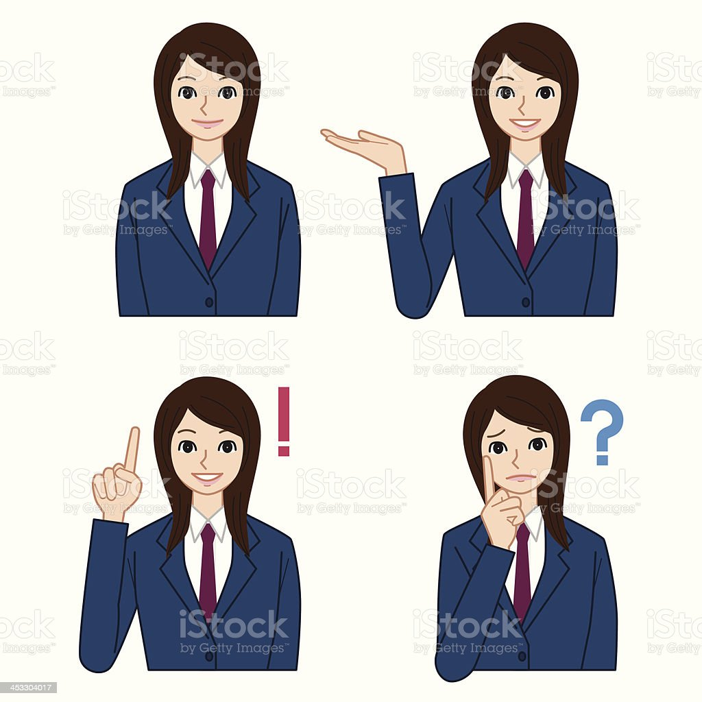 High school student royalty-free stock vector art