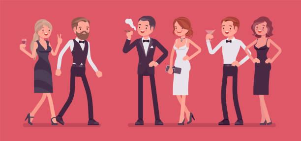 De la haute société - Illustration vectorielle