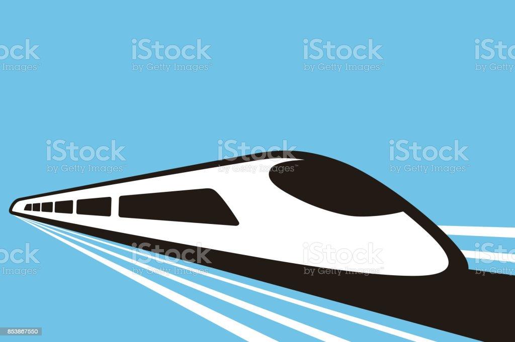 High speed bullet train, modern flat design, vector illustration vector art illustration