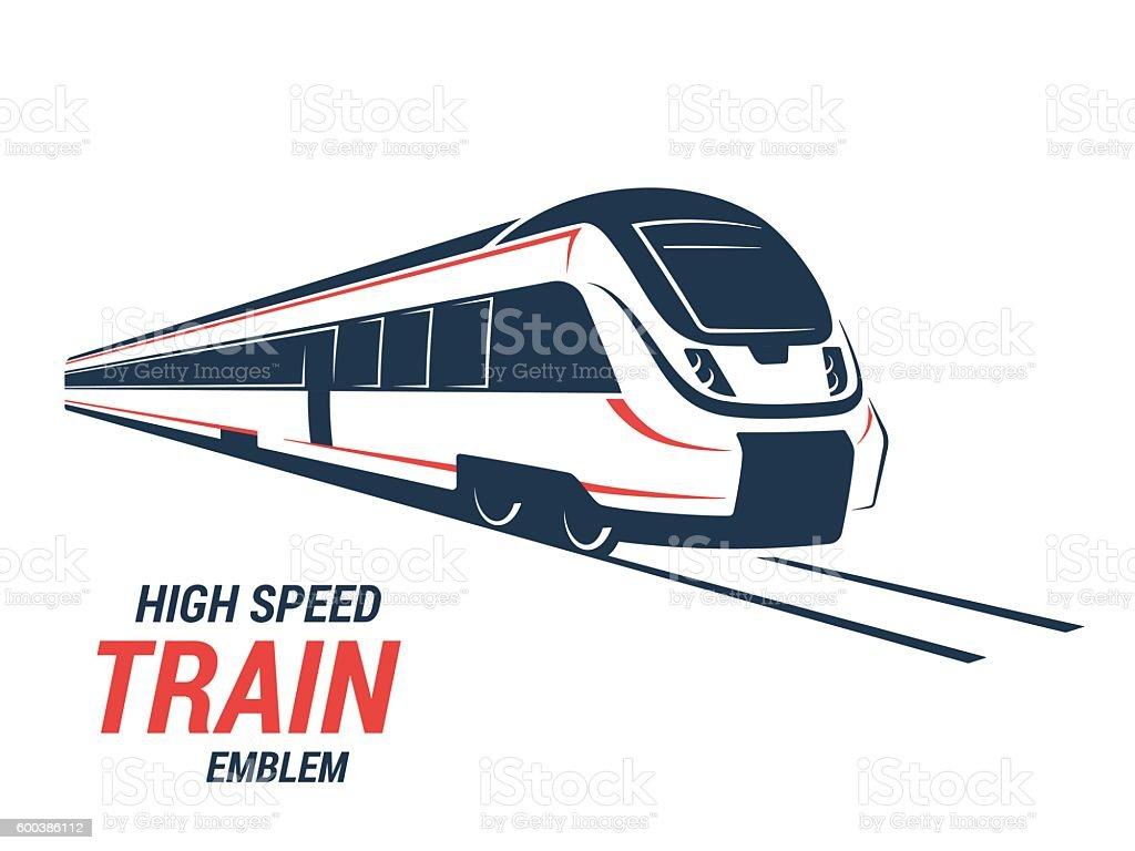 High speed commuter train emblem, icon, label – Vektorgrafik