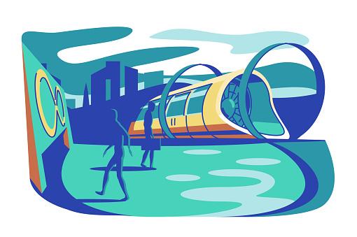 High speed futuristic train