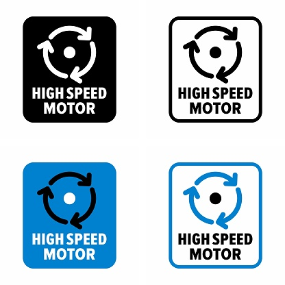"""""""High speed motor"""" drive engine accessory information sign"""