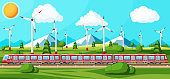 istock High Speed Train And Summer Landscape 1322654358
