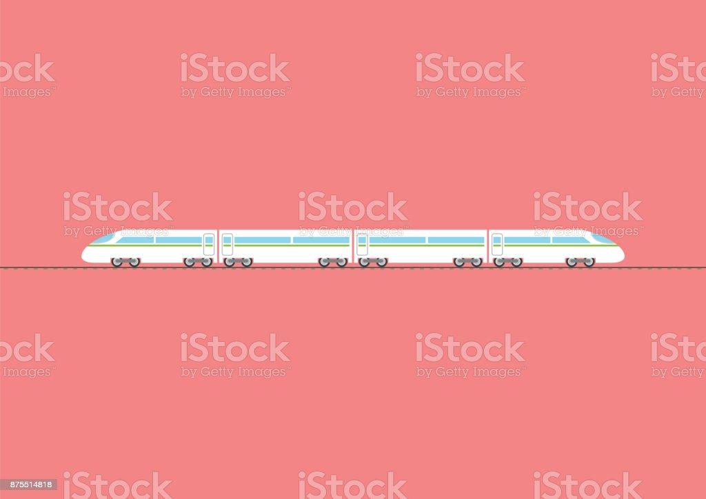 High-Speed-Zug isoliert auf rotem Grund – Vektorgrafik