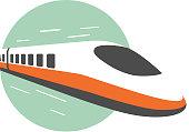istock High speed train, modern flat design, vector illustration 684767302