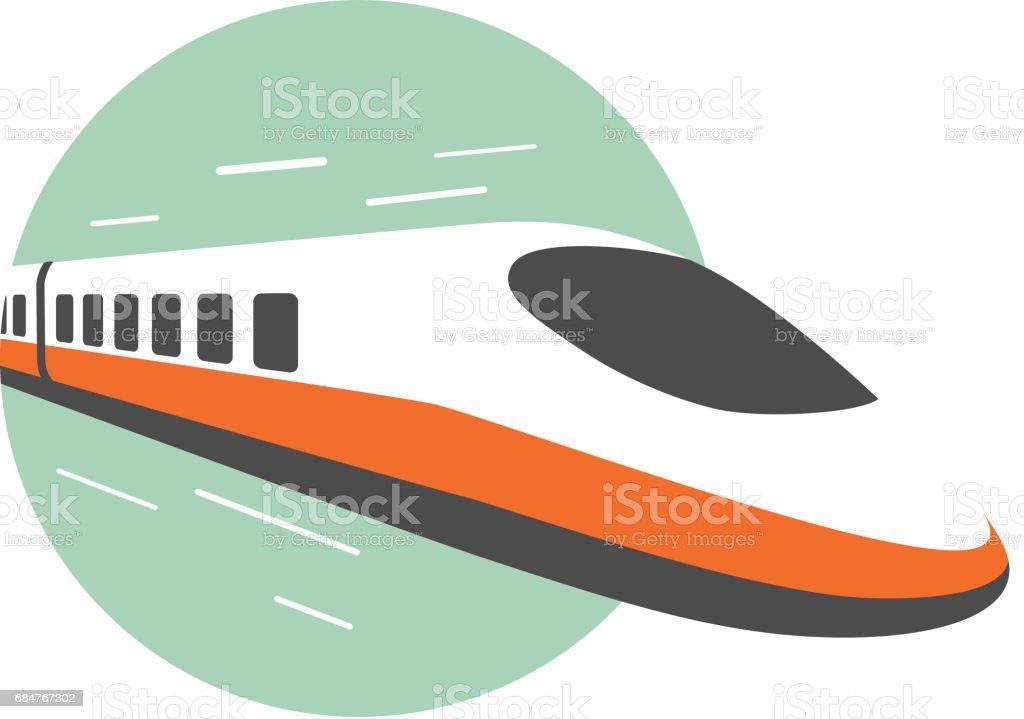 High speed train, modern flat design, vector illustration vector art illustration
