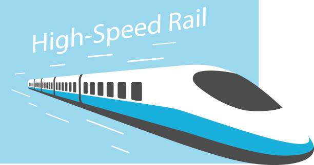 High speed train, modern flat design, vector illustration High speed train, modern flat design, vector illustration high speed train stock illustrations