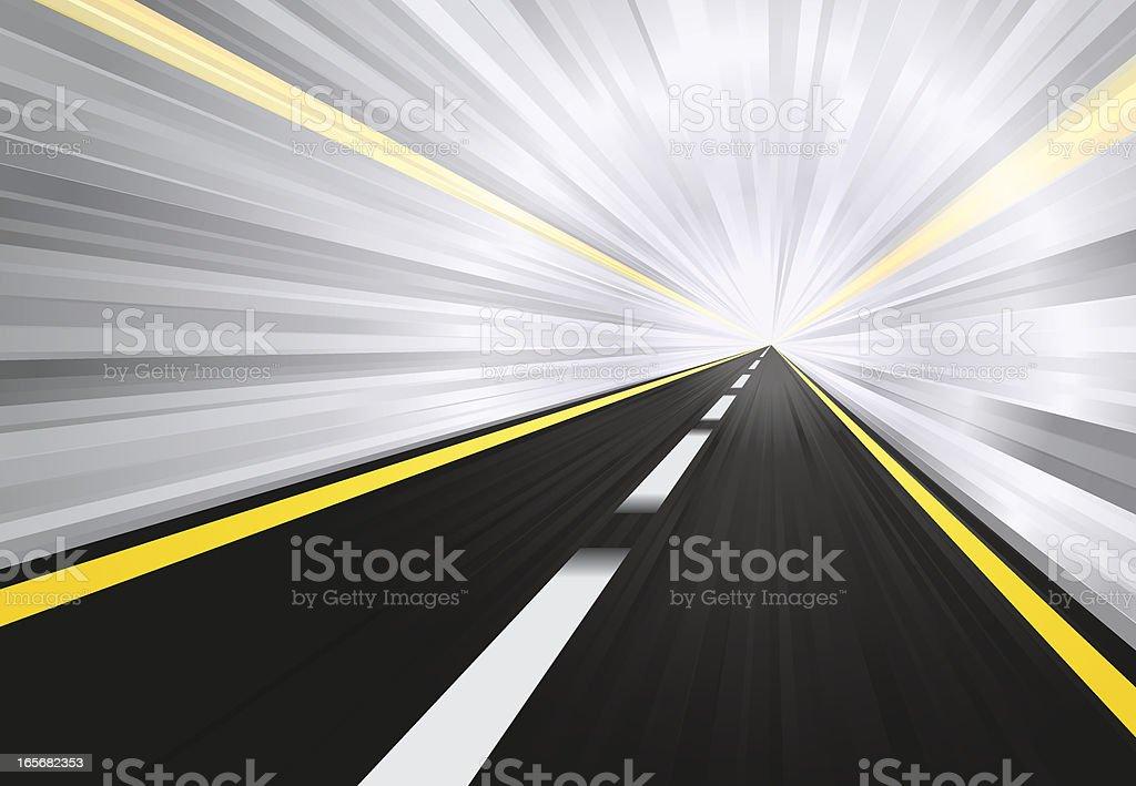 High Speed Tunnel Highway vector art illustration