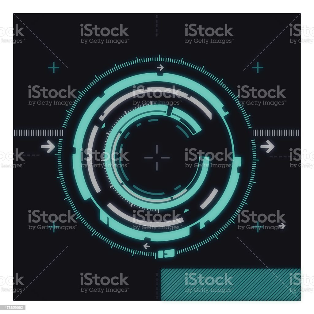 High Tech Abstract Circle Background vector art illustration