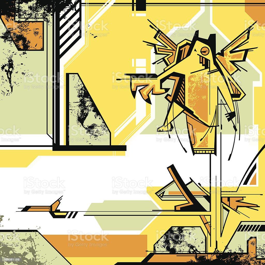 High Tech Creature royalty-free stock vector art