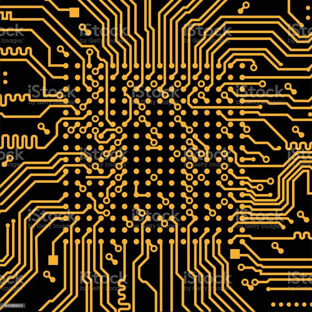 High Tech Electronic Circuit Board Vector Background Stock Design Program Free Royalty