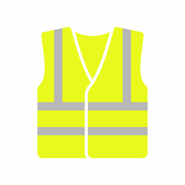 High visibility vest icon Vector icon isolated on white background tank top stock illustrations