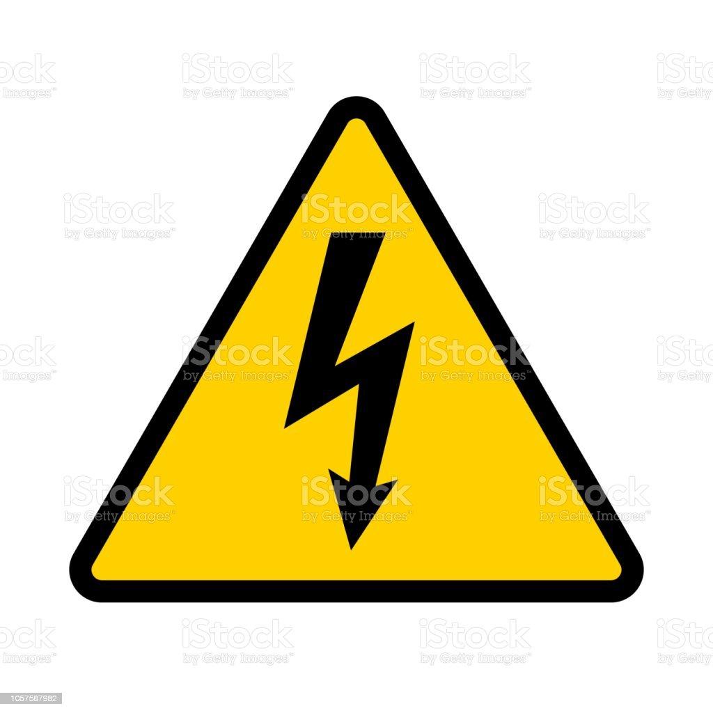 Hochspannung Kontamination Symbol Gelbe Dreieckige Warnzeichen ...