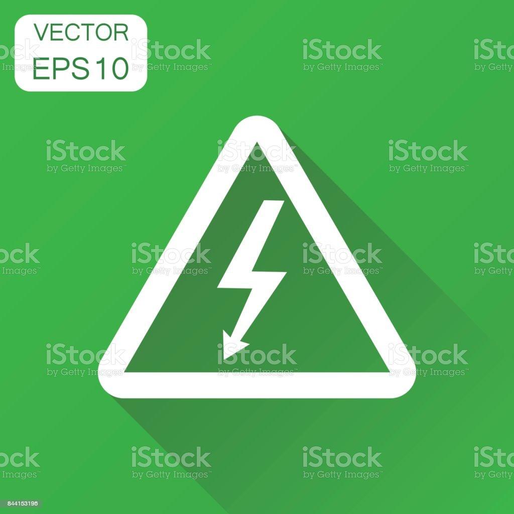 Hohe Spannung Gefahr Zeichen Symbol Business Konzept Gefahr Strom ...