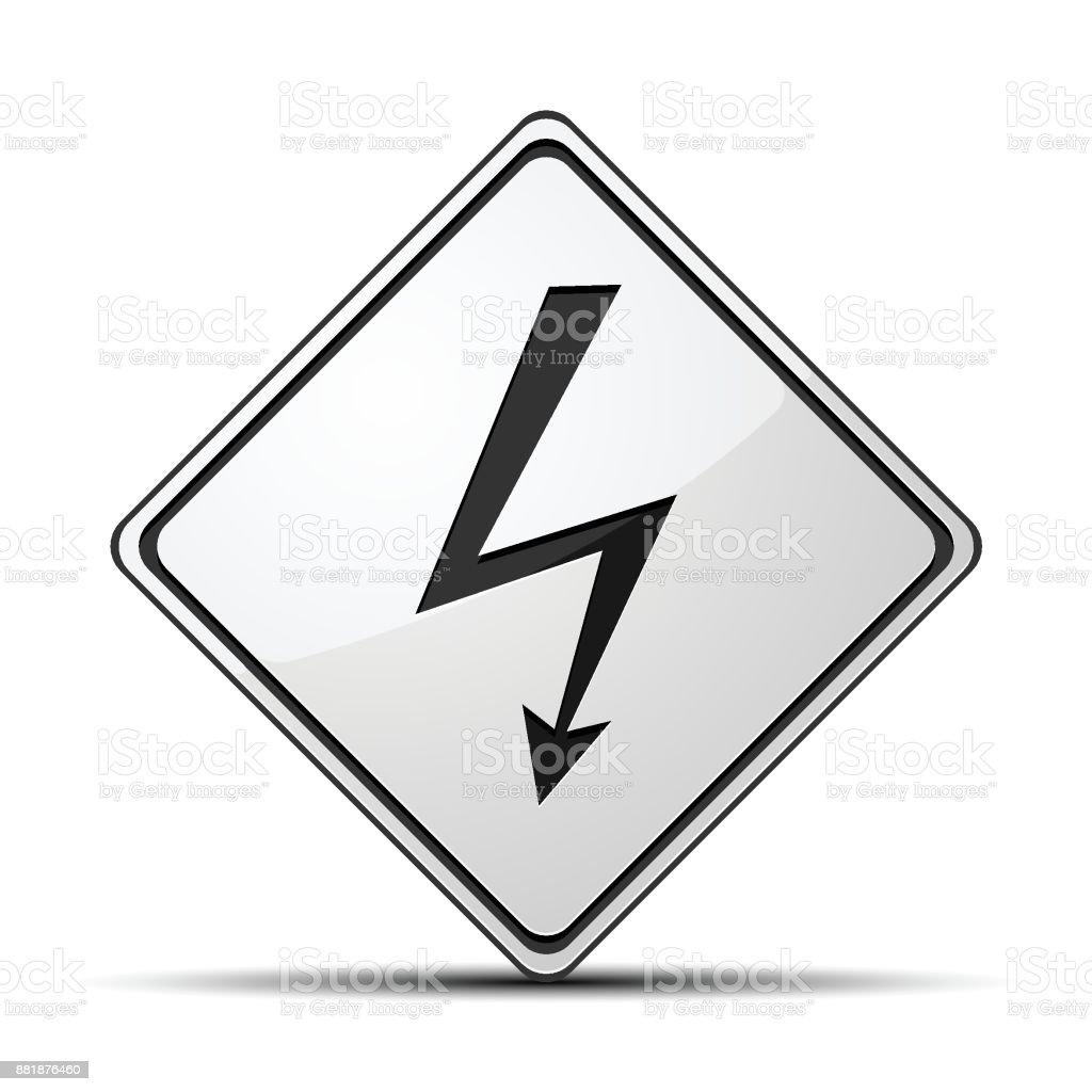 Hohe Spannung Risiko Zeichen Stock Vektor Art und mehr Bilder von ...