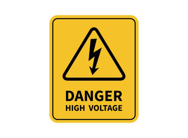 High voltage sign. danger sign. Vector illustration. High voltage sign. danger sign. Vector illustration. on white background high voltage sign stock illustrations