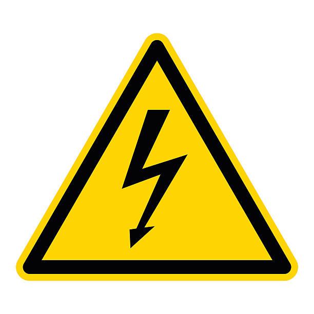 знак высокое напряжение - lightning stock illustrations