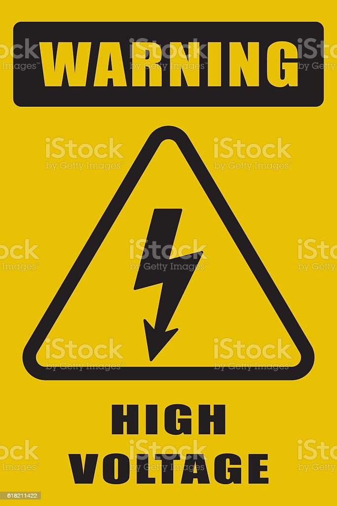 High Voltage Sign vector art illustration