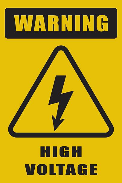 High Voltage Sign High Voltage Sign high voltage sign stock illustrations