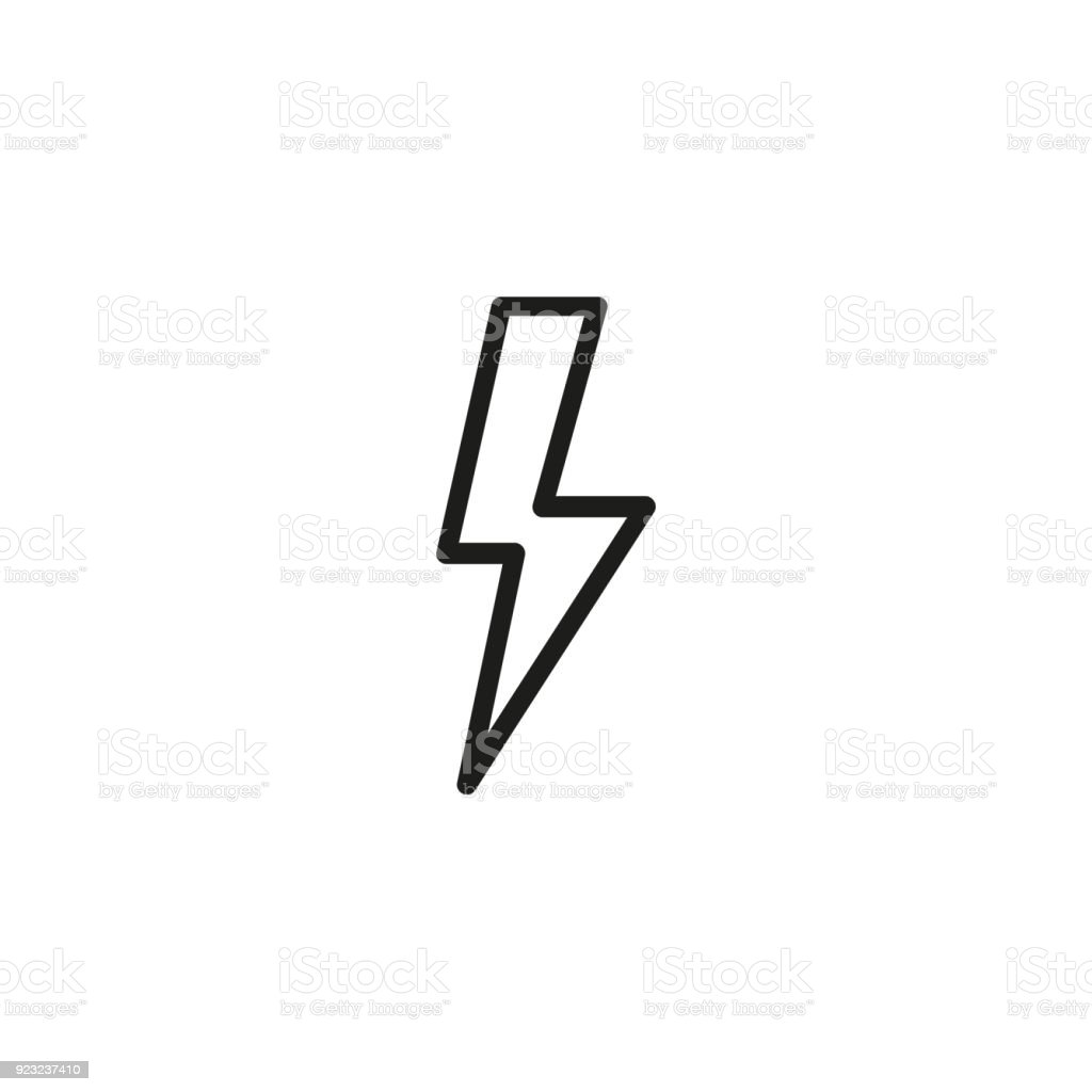 High Voltage Symbol Line Icon Stock Vector Art More Images Of