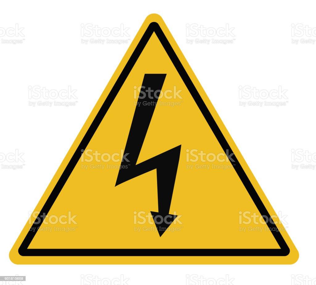 29 Hochspannung Dreieckige Warnschild Auf Weißem Hintergrund ...