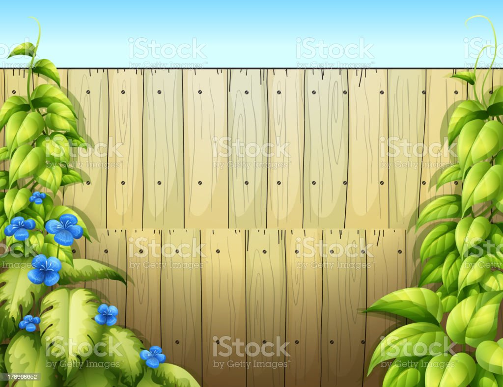 High wooden fence royalty-free stock vector art