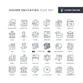 29 Higher Education Icons - Editable Stroke - Easy to edit and customize - You can easily customize the stroke with
