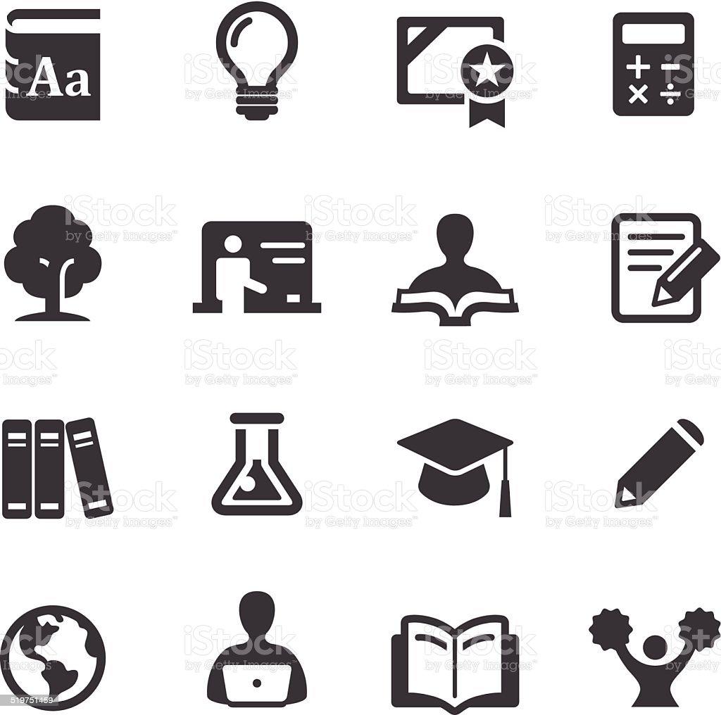 L'enseignement supérieur icônes-Série Acme - Illustration vectorielle