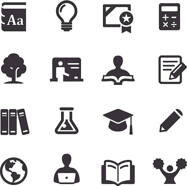 höheren bildung icons-acme series - buchstabenschreibweise stock-grafiken, -clipart, -cartoons und -symbole